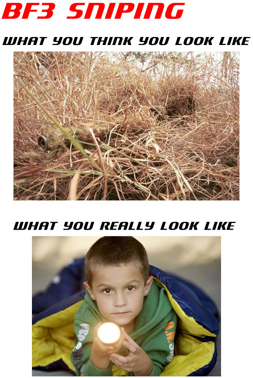 BF3 Sniping: What you think you look like - what you really look like