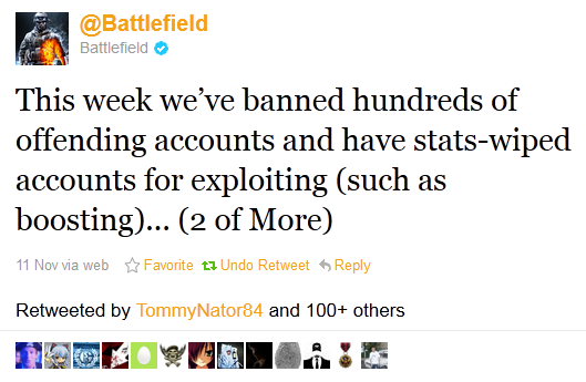 BF3 Bans / wipes in effect