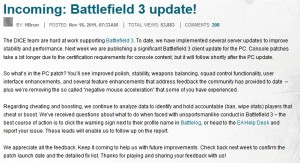 First BF3 Client Patch Details