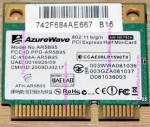 AzureWave AW-NE785H 802.11 b/g/n PCI Express Half MiniCard (ATH-AR5B95)