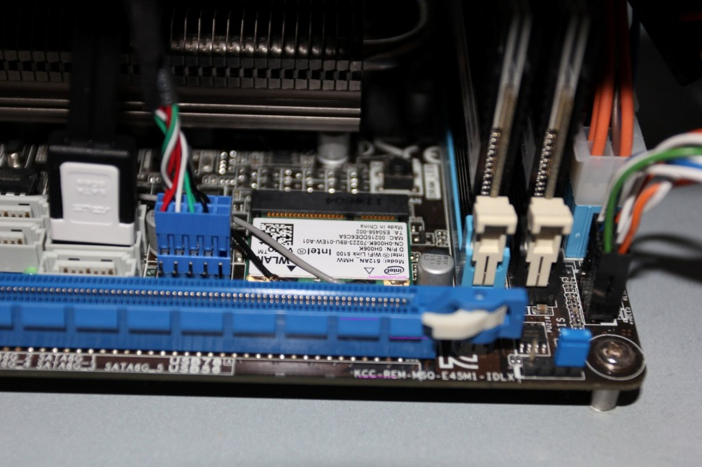 Intel 5100 card in place!
