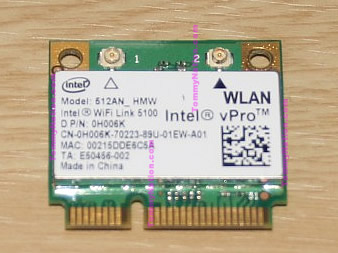 Intel WiFi Link 5100 512AN_HMW Intel vPro WLAN