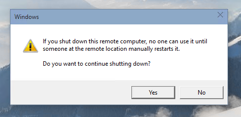 Shutdown Windows 10 via RDP 04