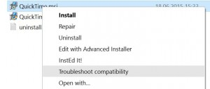 Troubleshoot Quicktime Compatibility for Windows 00 workaround